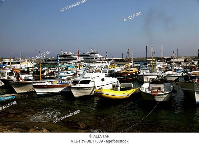 PLEASURE & FISHING BOATS; MARINA GRANDE, ISLAND OF CAPRI, ITALY; 17/09/2011