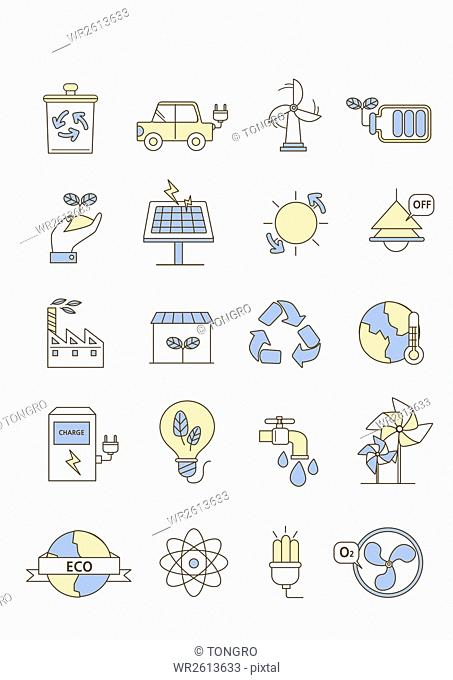 Icons related environmental protection