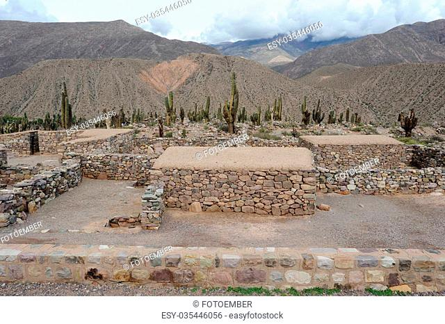 Archaeological site of Pucara at Tilcara on anrgentina andes