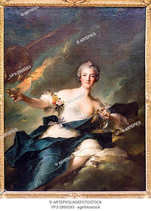 Jean-Marc Nattier. La duchesse de Chaulnes représentée en Hébé. 1744. XVIII th century. French school. Paris - Louvre Museum