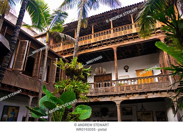 Casa de los Balcones Santa Cruz, La Orotava world heritage site, Tenerife Island Canary Islands