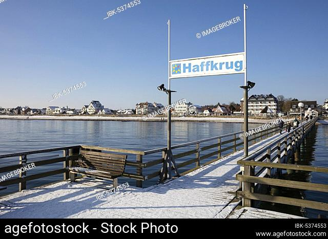Pier, Haffkrug, Scharbeutz, Baltic Sea, Lübeck Bay, Schleswig-Holstein, Germany, Europe