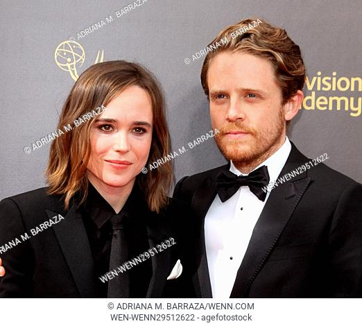 Creative Arts Emmy Awards 2016 Arrivals - Day 2 held at the Microsoft Theatre Featuring: Ellen Page, Ian Daniel Where: Los Angeles, California