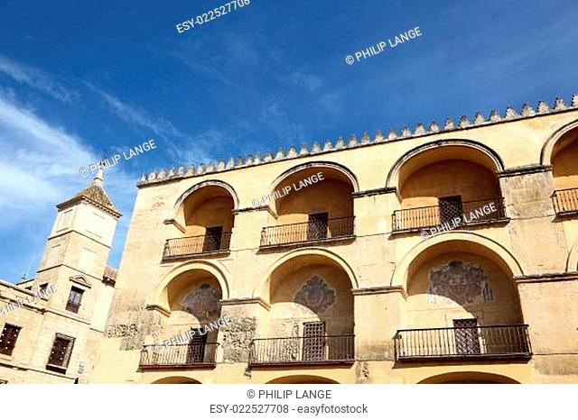 Exterior of the mosque cathedral in Cordoba, Andalusia Spain
