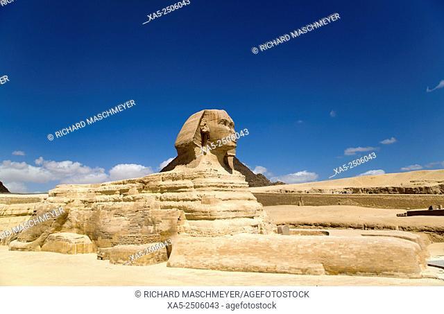 Sphinx, The Giza Pyramids, Giza, Egypt