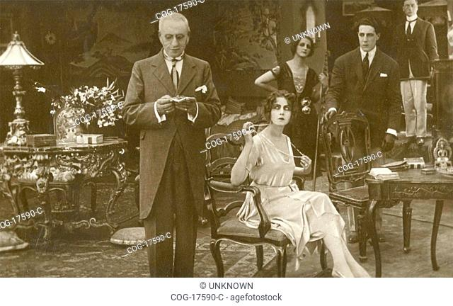 Italian actress Francesca Bertini in a scene of the movie Idillio Tragico, Italy 1912