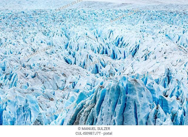 Full frame view of Perito Moreno Glacier, Los Glaciares National Park, Patagonia, Chile