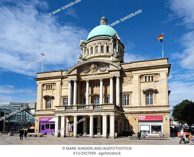 City Hall in Queen Victoria Square Hull Yorkshire England