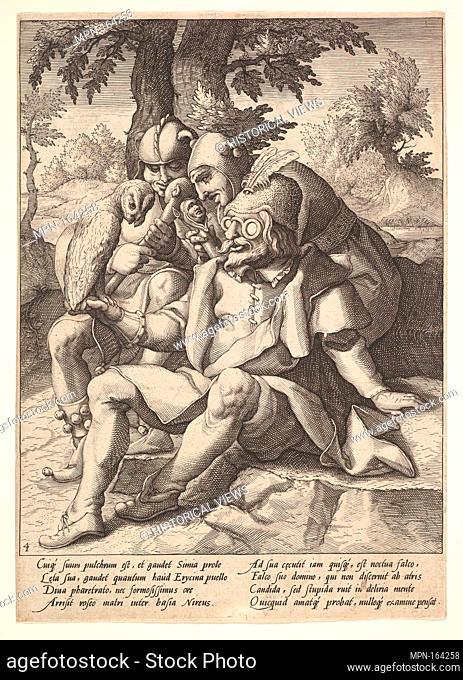 The Wisdom of Fools, from Six Proverbs. Artist: Jacques de Gheyn II (Netherlandish, Antwerp 1565-1629 The Hague); Artist: After Karel van Mander I...