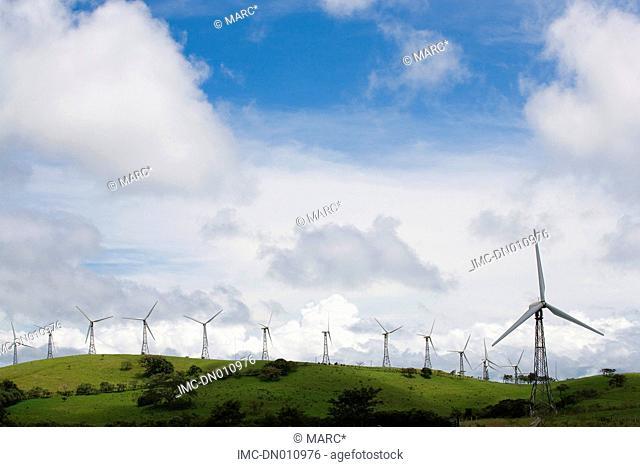 Costa Rica, Guanacaste province, La Palma, windmill park