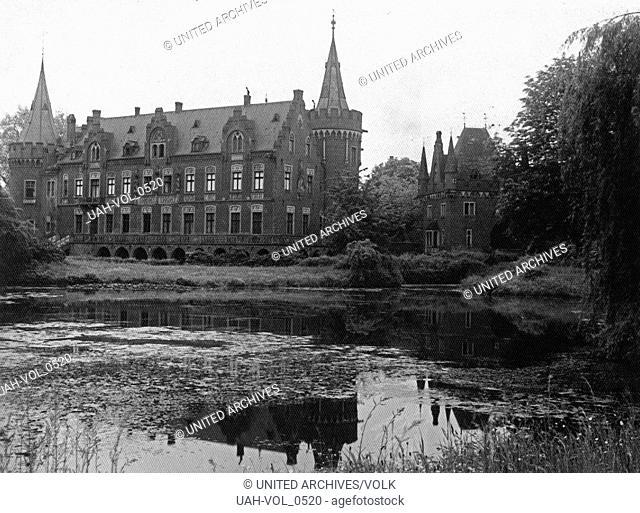 Schloss Paffendorf bei Bergheim, Deutschland 1920er Jahre. Schloss Paffendorf castle near Bergheim, Germany 1920s