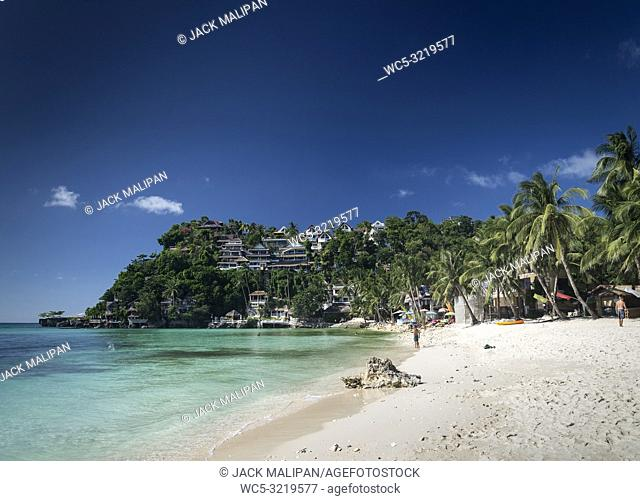 diniwid resort beach view in tropical exotic paradise boracay island philippines