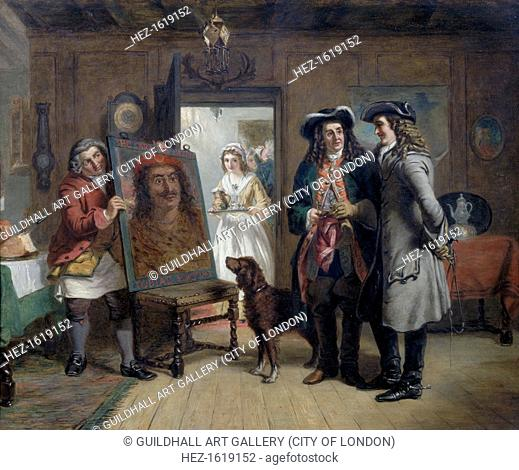 Sir Roger de Coverley and Addison with 'The Saracen's Head' - a Scene from The Spectator, 1867