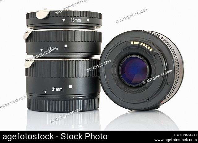 lens with extension tubes set