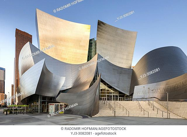 Disney Concert Hall, downtown Los Angeles, California, USA