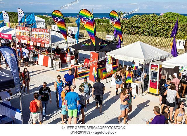 Florida, Miami Beach, Lummus Park, Gay Pride Week, LGBTQ, LGBT, Miami Beach Pride Festival, vendors, stalls