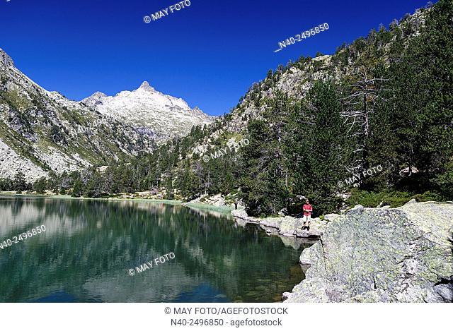 Les Laquettes lake, Néouvielle Reserve, France