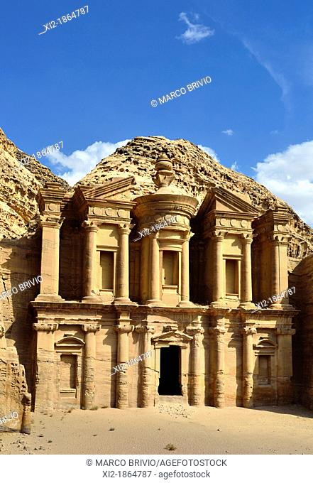 The Monastery - Ad Deir Ad-Dayr is a monumental building carved out of rock in the ancient Jordanian city of Petra  Built by the Nabataeans in the 1st century...