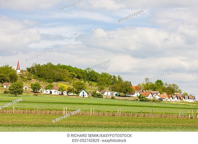 Wine route at Galgenberg in Weinviertel, Austria