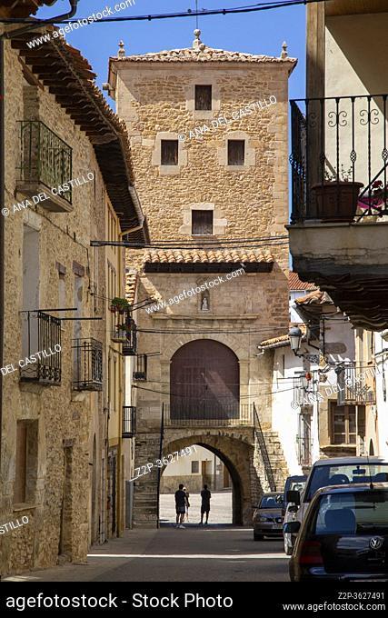 Mosqueruela village in Maestrazgo county Teruel Aragon Spain on July 2020
