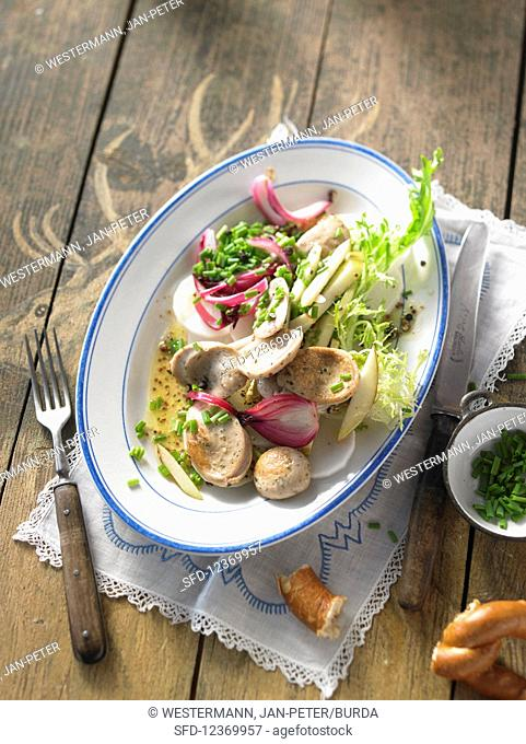 Salad made from white sausage (Bavaria)