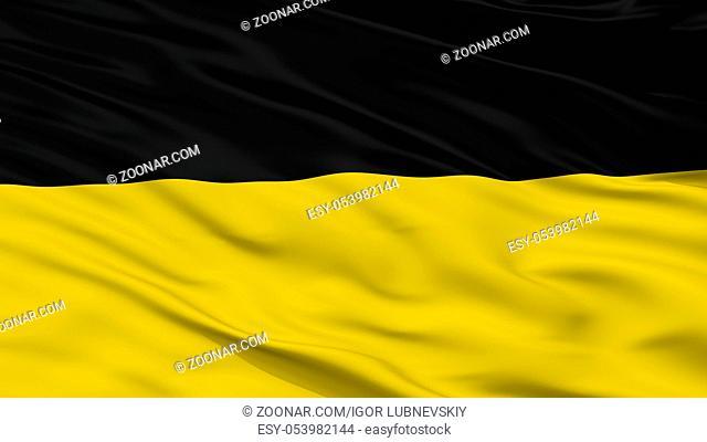 Namur City Flag, Country Belgium, Closeup View