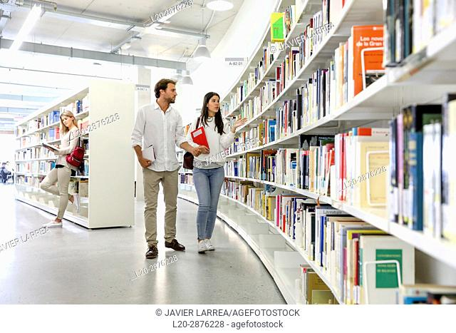 Students in the library, University of the Basque Country, Donostia, San Sebastian, Spain