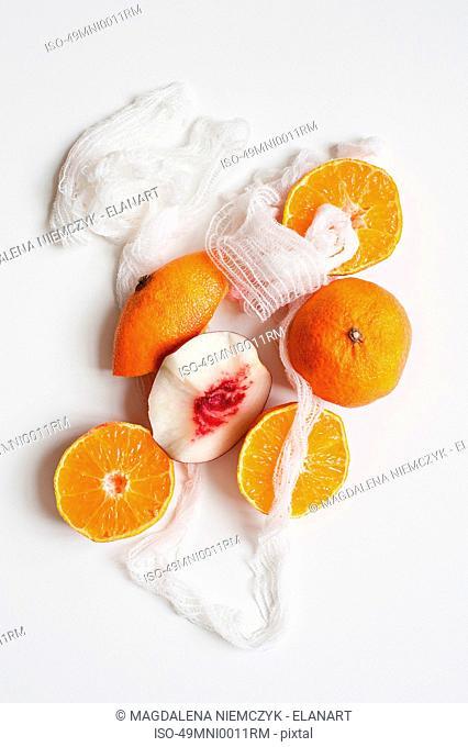 Orange fruit and twine