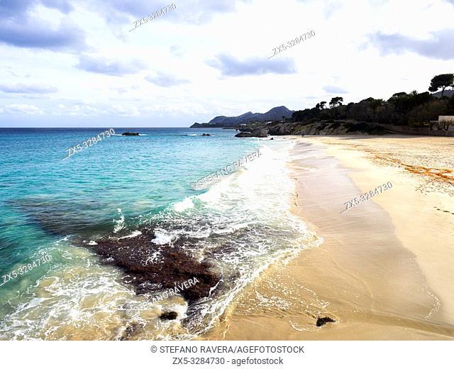 Beach of Son Moll in Cala Rajada - Majorca, Balearic Islands, Spain