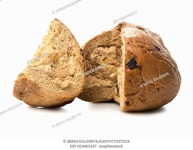 Fragrant bread isolated on a white background
