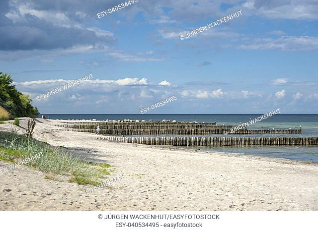 Beach at the Hohwachter Bucht, Hohwacht, Baltic Sea, Schleswig-Holstein, Germany, Europe