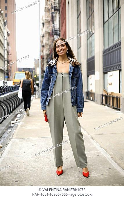 Blogger Erika Boldrin posing on the street outside of the Maryam Nassir show during New York Fashion Week - Sept 12, 2018 - Photo: Runway Manhattan ***For...