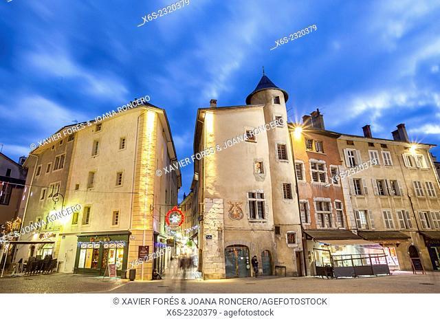 Place de Genève in Chambery, Savoie, Rhône-Alpes, France