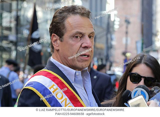 Fifth Avenue, New York, USA, September 09 2017 - Governor Andrew Cuomo participated on the 2017 Labor Day Parade today in New York City
