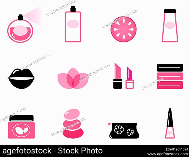 Luxury cosmetic icons and graphic elements ( pink &amp black )