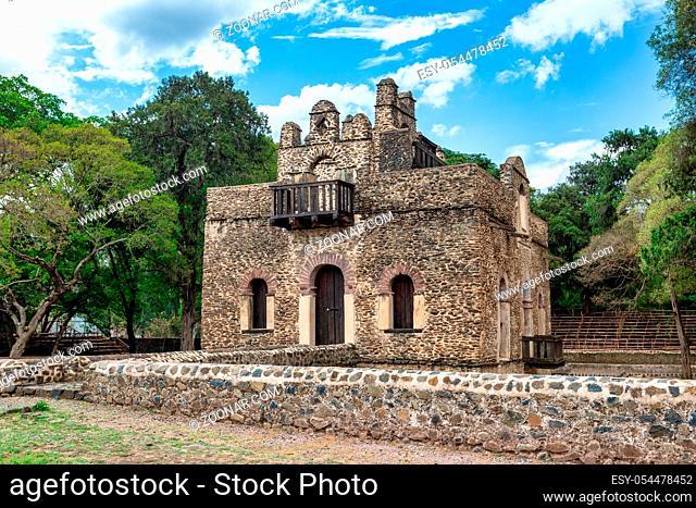 Africa Ethiopia, Gondar, Gonder, Royal Enclosure Fasil Ghebbi Fasilides Bath - Fasilides Swimming Pool. UNESCO World Heritage List