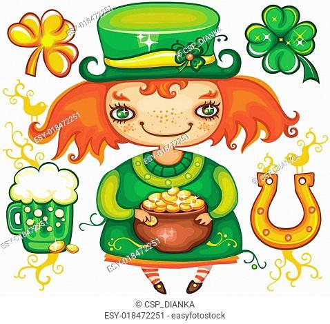 St. Patrick's Day leprechaun series