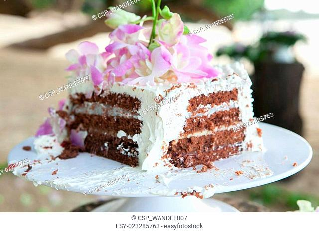 Wedding cake. Sweet cake