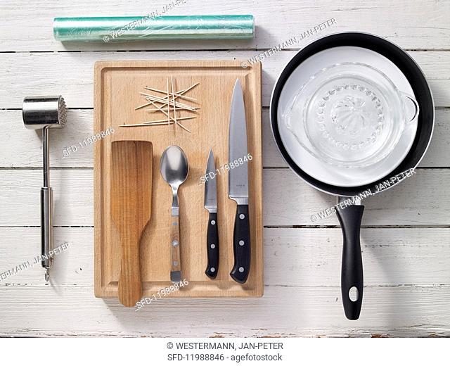 Kitchen utensils for preparing saltimbocca