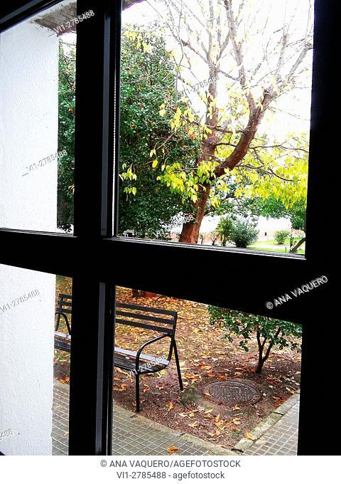 Fall through the window, Malpartida de Cáceres, Extremdura, Spain
