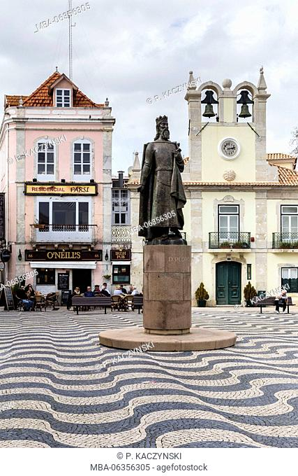 Architecture,bell tower,Building Exterior,Cascais,City,Colour Image,Curve,Day,Dom Pedro,Europe,Famous Place,Front View,Historic,Incidental People,Local Landmark