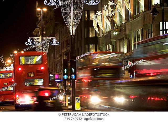 Christmas, Oxford Street, London, UK