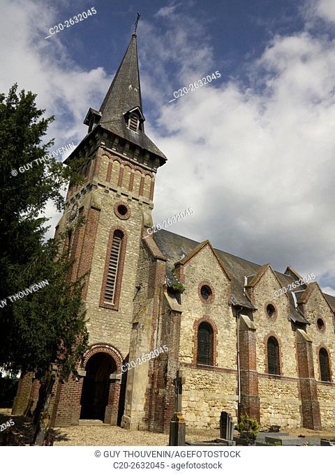 Church of Canapville, 14, Calvados, Normandy, France