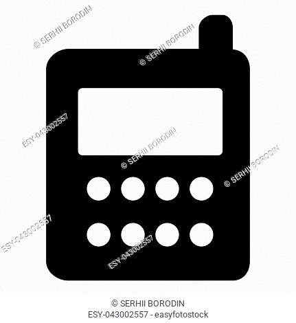 Phone icon vector illustration isolated icon black color vector illustration isolated