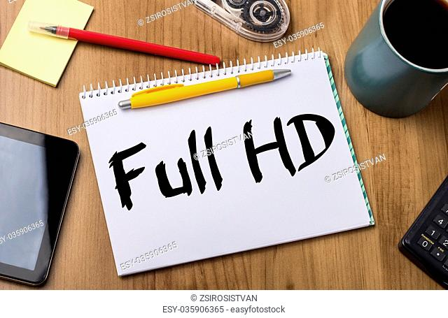 Full HD - Note Pad With Text