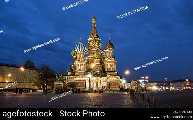 St. Basil Cathedral. The Red Square. Moscow. . Russia
