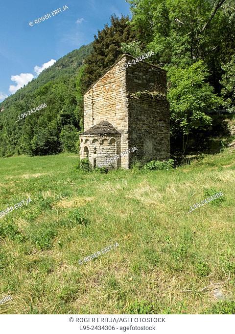 Sant Marti de Bavamoll chapel in the Pyrenees, Spain