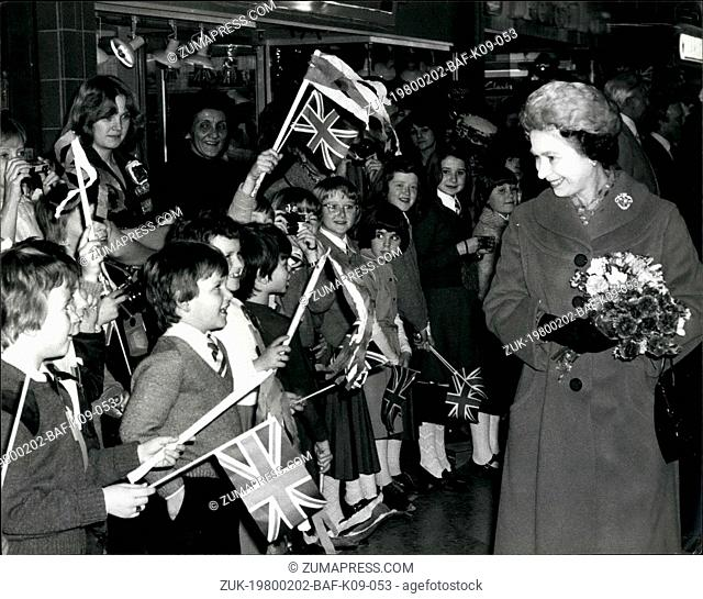 Feb. 02, 1980 - The Queen Opens The Elmsleigh Centre Staines: This afternoon The Queen and Duke of Edinburgh opened the new Elmsleigh Shopping center in Staines