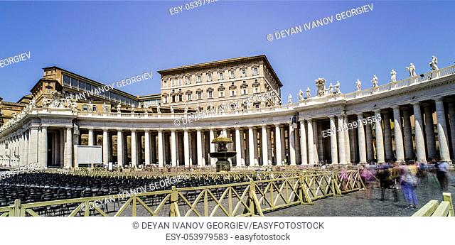 St. Peter's Squar, Vatican, Rome. General view