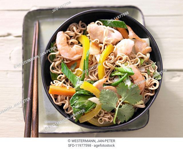 Bami goreng (fried noodles, Indonesia)